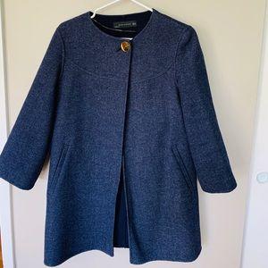 Navy blue jacket cape